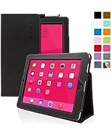 Snugg™ Étui Pour iPad 2 - Smart Cover Avec Support Pied Et Une Garantie à Vie (En Cuir Noir) Pour Apple iPad 2
