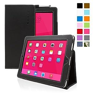 Snugg - Funda Para iPad 1 - Funda Con Soporte Plegable Y Una Garantía De Por Vida (Cuero Negro) Para Apple iPad 1