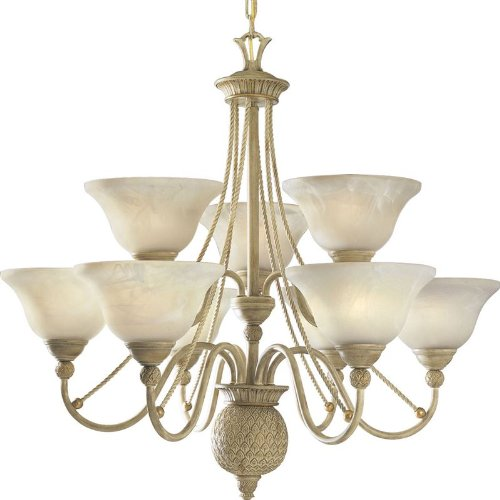 Progress Lighting P4121-42 9-Light Savannah Chandelier, Seabrook
