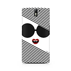 Ebby Black And White Glasses Chick Premium Printed Case For OnePlus One