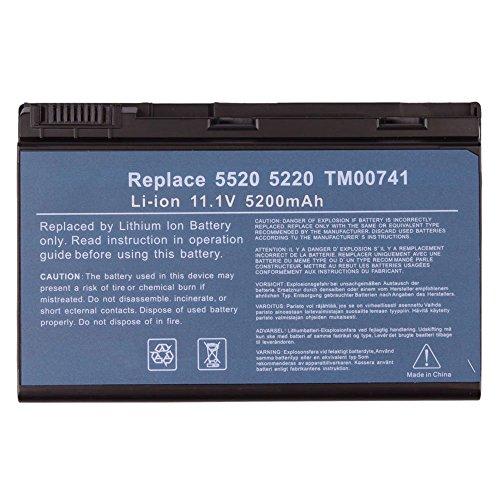 Click to buy NEW 11.1V 5200Mah Li-ION Notebook/Laptop Battery for Acer TravelMate 5520-401G12Mi 5520G-402G16Mi 5720-6462 7520-501G16Mi 7720 TM00741 Black - From only $49.99