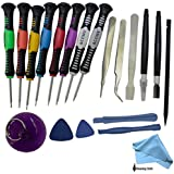 ACENIX® - 16 in 1 Repair Opening Tools Kit Screwdriver Set For iPhone 3,3GS,4,4S,5,5S,5C iPad 1,2,3,4 iPod iTouch PSP NDS & HTC , All Types Of Mobile Phones Universal Tool Kit