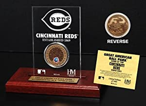 Buy Highland Mint MLB Cincinnati Reds Great American Ball Park Infield Dirt Coin Etched Acrylic by Highland Mint