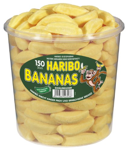 Haribo Bananas, 1er Pack (1 x 1.05 kg Dose)
