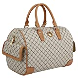 Rioni Signature (Natural) - Large Boston Bag ~ RIONI