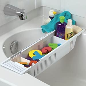 Click to buy Bath Toy Storage: Bathtub Storage Basket from Amazon!