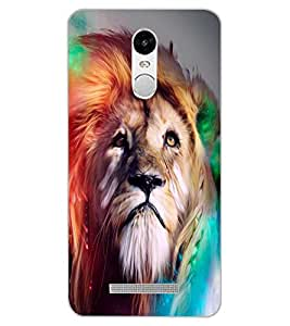 ColourCraft Lion Look Design Back Case Cover for XIAOMI REDMI NOTE 3