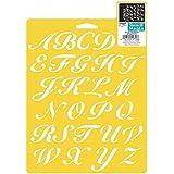 Plaid Delta 970660710 Script Alphabet Stencil, 7 by 10-Inch