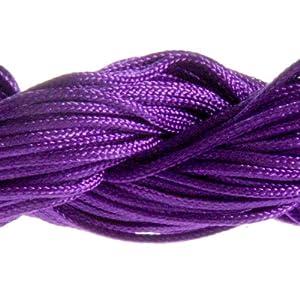 30 Mètres Fil Nylon Cordon bijoux 1 mm pour bracelet perles Shamballa tibétain - Violet