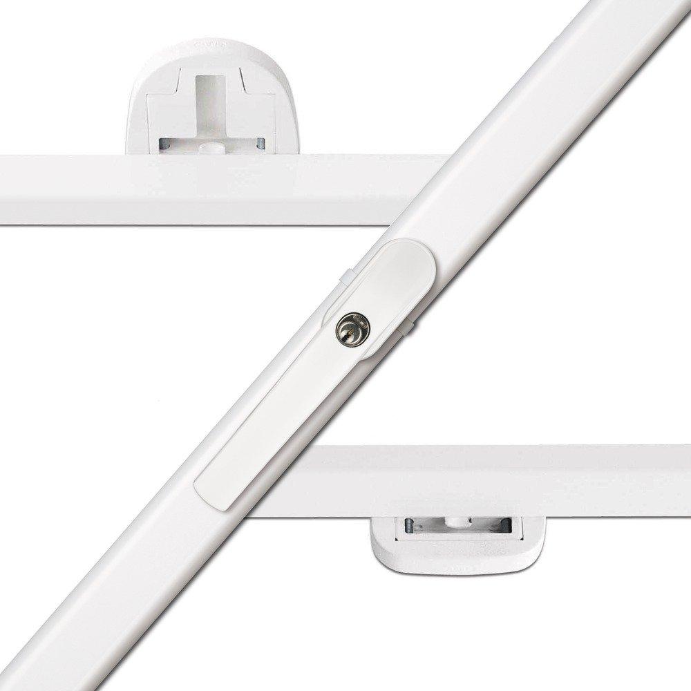 Abus 440052 FKS208 W Fensterkippsicherung 3Punkt BasisPaket, weiß  BaumarktKritiken und weitere Informationen