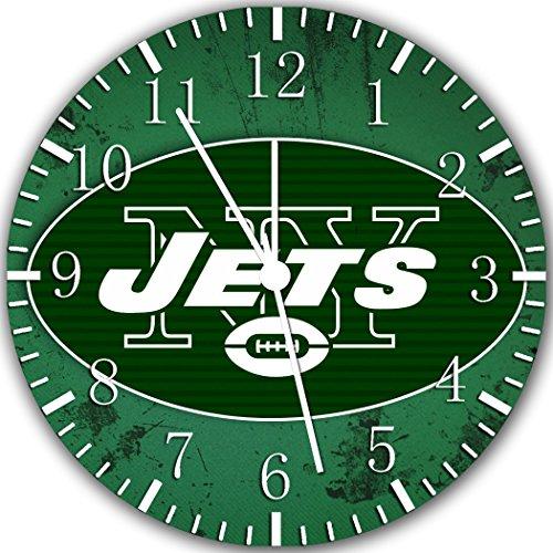 New York Jets Go Team Chrome Wall Clock