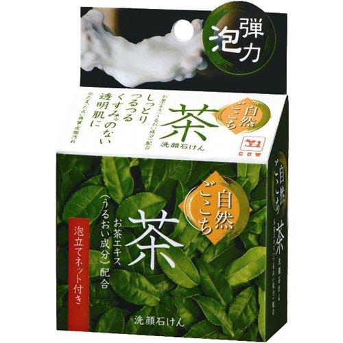 牛乳石鹸 自然ごこち 茶 洗顔石けん 80g