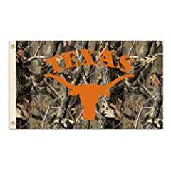 Buy NCAA Texas Longhorns 3-by-5 Foot Flag with Grommets - Realtree Camo Background by BSI