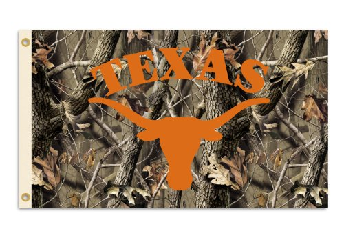NCAA Texas Longhorns 3-by-5 Foot Flag with Grommets - Realtree Camo Background at Amazon.com