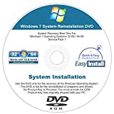 Windows 7 (SP1) 32 & 64 bit Reinstall Install DVD Disc for Basic, Home Premium, Professional, Ultimate - 2016 Driver Installation DVD Included (MultiBoot Solutions 2 Disc Set)