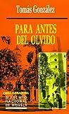 Para antes del olvido (1583480102) by Gonzalez, Tomas