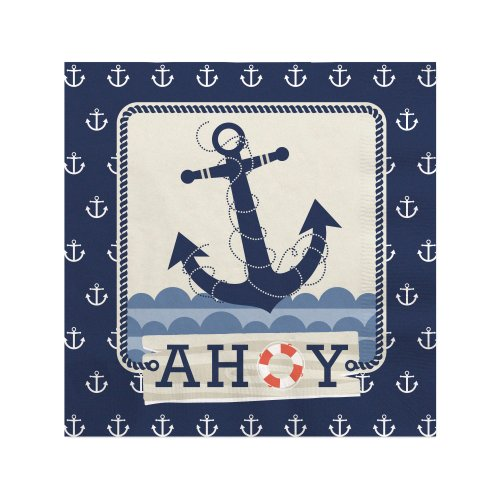 Ahoy Nautical - Beverage Napkins (16 Count) front-680917