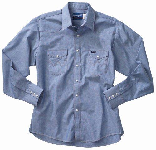 9a7a15287c8 Wrangler Men s Cowboy Cut Work Western Long Sleeve Shirt