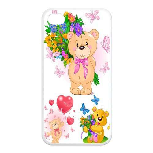 Mystic Zone Lovely Teddy Bear iPhone 4 Case for