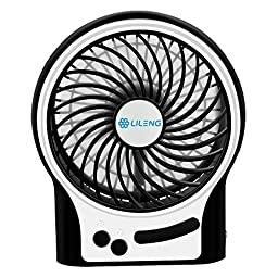 VersionTech Cooling Electric USB Fan for Desk Table Car Office Bedroom(3 Speeds, Black)
