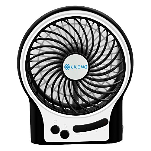 VersionTech Cooling Electric USB Fan for Desk Table Car Office Bedroom(3 Speeds, Black) (Cooling Fan Bedroom compare prices)