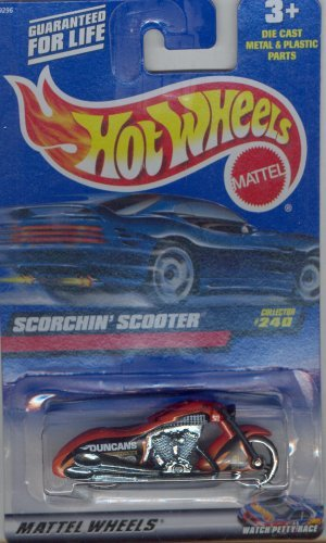 Hot Wheels 2000 240 RED SCORCHIN' SCOOTER 1:64 Scale Die-cast Collectible Car