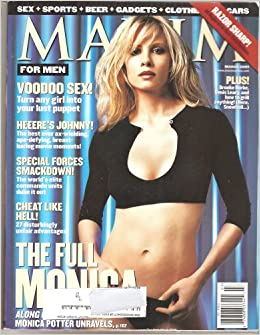 Maxim Magazine March 2001 Monica Potter Cover and Pictorial, Brooke
