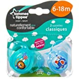 Tommee Tippee Closer To Nature Soother 6-18m, 2 Count (Design & Color May Vary)