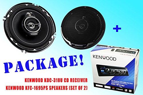 Package ! Kenwood Kdc-318U Cd-Receiver + Kenwood Kfc-1695Ps Car Speakers