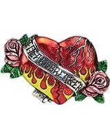 Buotique Quality Colorful Broken Heart W/ Roses Heartbreaker Belt Buckle - US...