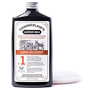July 4th Sale! Leather Milk Natural Leather Care Liniment No. 1 | Leather Conditioner and Cleaner | 8 oz