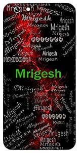 Mrigesh (Lion) Name & Sign Printed All over customize & Personalized!! Protective back cover for your Smart Phone : Samsung Galaxy E5
