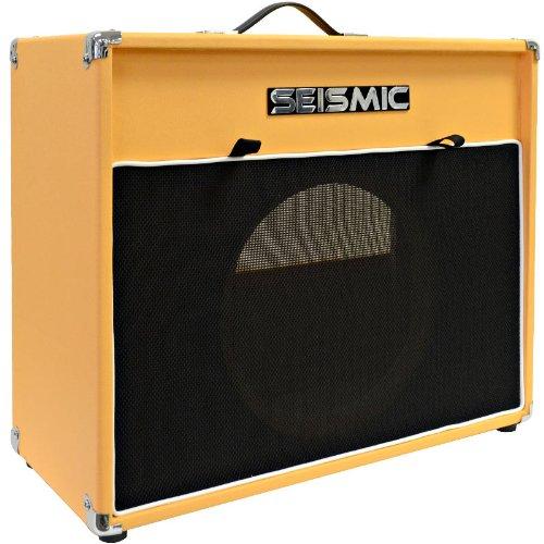 "Seismic Audio - 12"" Guitar Speaker Cabinet Empty - 7 Ply Birch - Speakerless 1X12 Cab - Vintage New - Orange Tolex - Black Cloth Grill - Front Or Rear Loading Options"