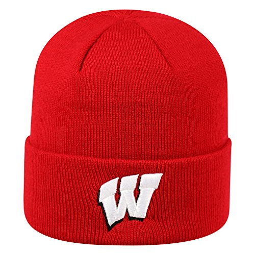 Wisconsin Badgers Official NCAA Cuffed Knit Tow Beanie Stocking Stretch Sock Hat Cap by Top of the World 936956 (Wi Badger Hat compare prices)