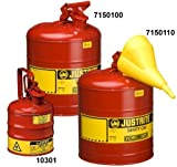 7150110 Safe Can W/Funnel 5Gal19L Red by JUSTRITEMFG CO (U.S)