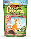 Zukes Natural Purrz Purrfectly Sublime Soft Treats for Cats, Savory Salmon Recipe, 3-Ounce