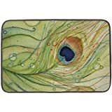 Bobbit Peacock Feathers Comfort Door Mats Cover Multi-purpose for Bathroom/kitchen/workstations Decor Mat #291
