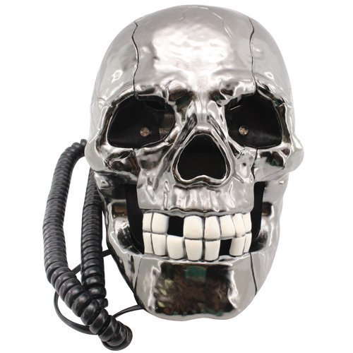 novelty-flashing-led-eyes-rustic-skull-corded-wired-land-line-phone-non-mains-powered