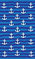 Cuddlefish Towel-Anchor design 37 X 62 inch Microfiber Towel. Lightweight, Soft, Compact Ideal for Travel, Gym, Beach, Pool, College, or Camp.