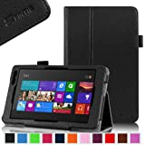 Fintie Folio Case for Dell Venue 8 Pro 32 GB 64 GB Tablet (Windows 8.1) Slim Fit Leather Stand Cover With Stylus Loop - Black