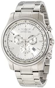 Invicta Men's Specialty Swiss Chronograph Silver Dial Stainless Steel Date Watch 1833