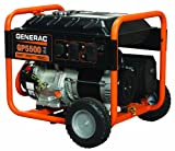 Generac 5939 GP5500 6,875 Watt 389cc OHV Portable Gas Powered Generator