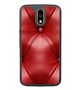 Red Leather Pattern 2D Hard Polycarbonate Designer Back Case Cover for Motorola Moto G4