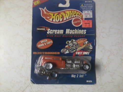 1999 Mattel Hot Wheels Talking Scream Machines Way 2 Fast
