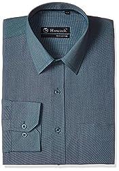 Hancock Men's Formal Shirt (9089Green_38)