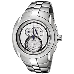Click to buy Seiko Watches for Men: SNL045 Arctura Kinetic Chronograph Stainless Steel Watch from Amazon!