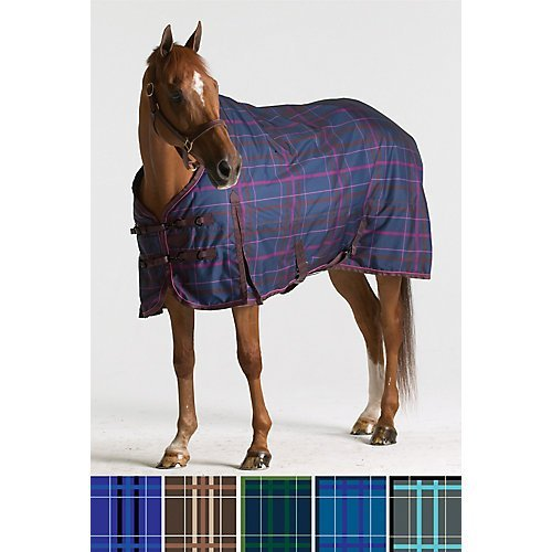 Pessoa 1200D Turnout Sheet 84 Clay/Teal Plaid Sporting
