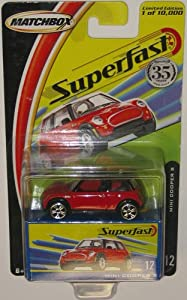 Red MINI COOPER S Matchbox SUPERFAST Series 1:64 Scale Collectible Die Cast Metal Toy Car Model #12