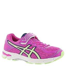 ASICS GT 1000 4 PS Running Shoe (Toddler/Little Kid), Pink Glow/Pistachio/Indigo Blue, 12 M US Little Kid
