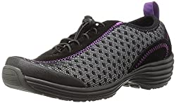 Sanita Womens O2 Lite-Tide Walking Shoe, Black, 37 EU/6.5 M US